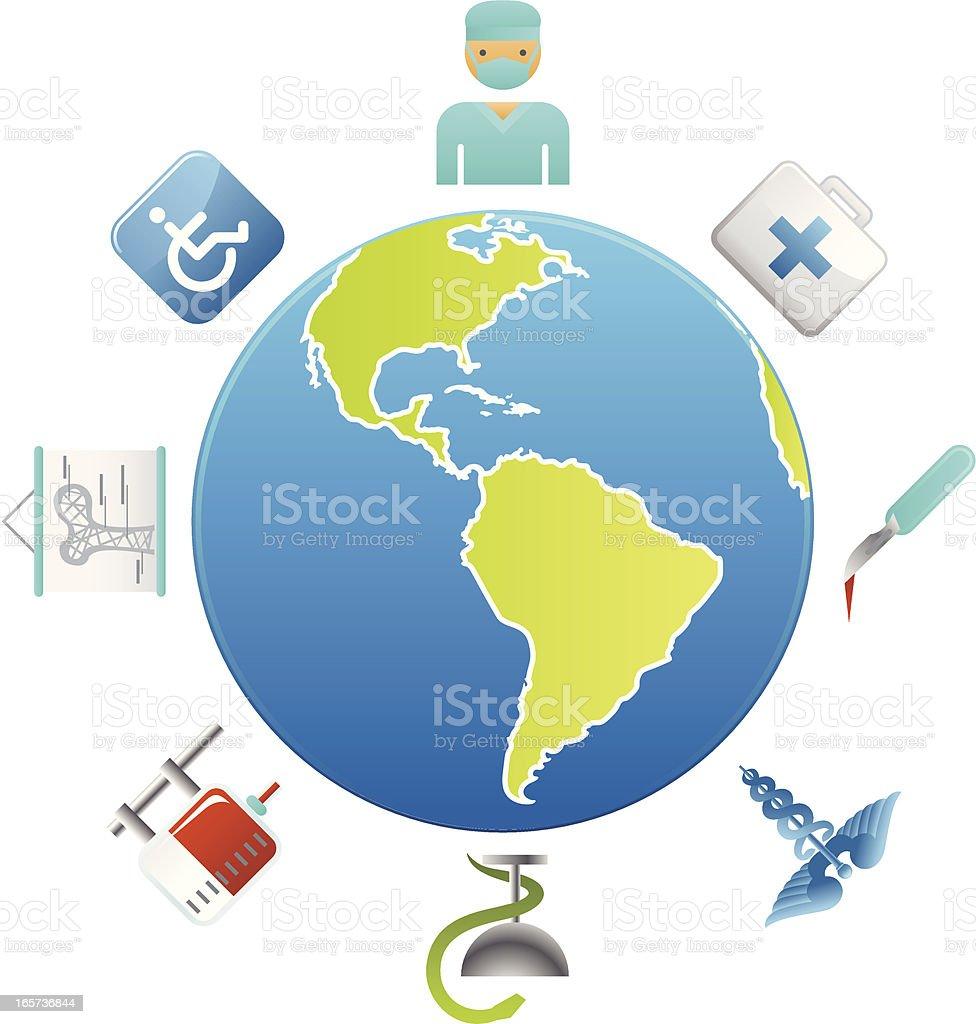 Global Healthcare & Medicine royalty-free stock vector art
