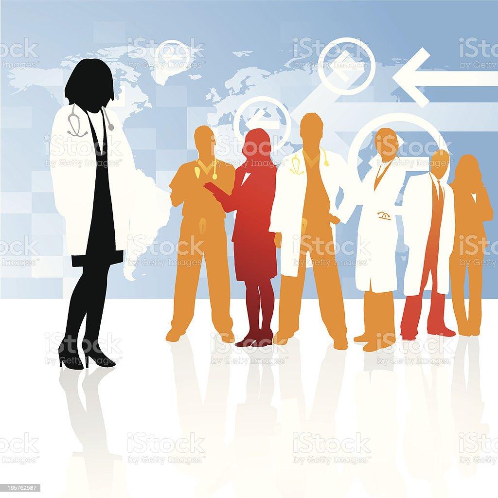 Global healthcare team royalty-free stock vector art