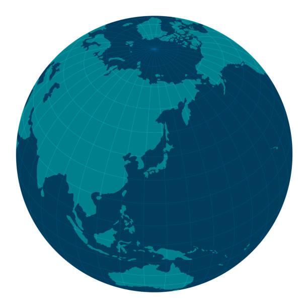 グローバルイメージイラストレーション (東アジアを中心に)/blue - 地球 日本点のイラスト素材/クリップアート素材/マンガ素材/アイコン素材