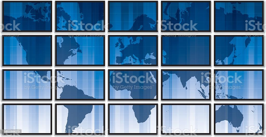Global Interface Screens royalty-free stock vector art