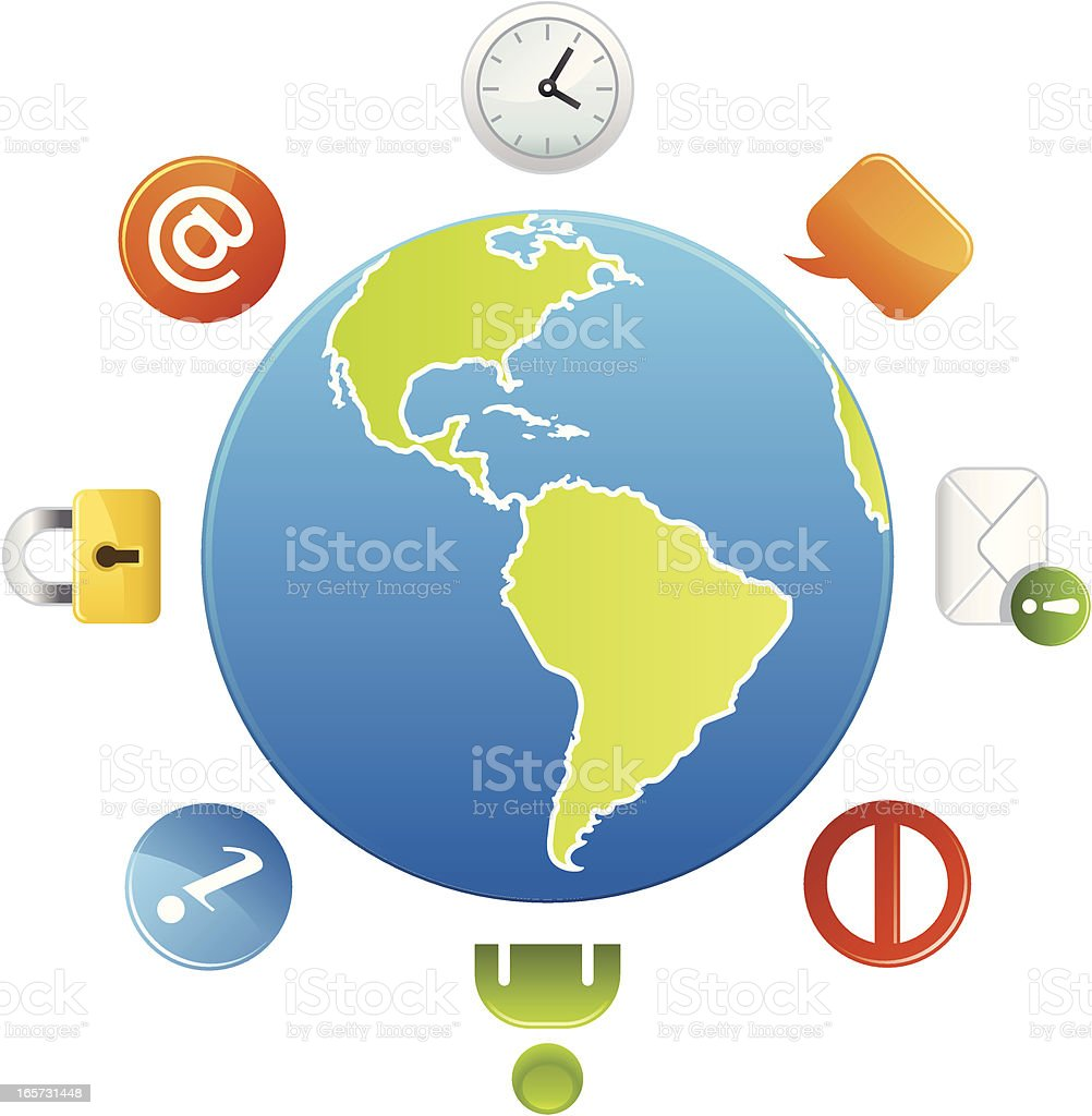 Global Internet & Browsing royalty-free stock vector art