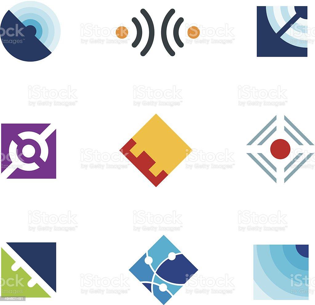 Ilustración de Global Conexión A Internet Sencilla Icono Plantilla ...