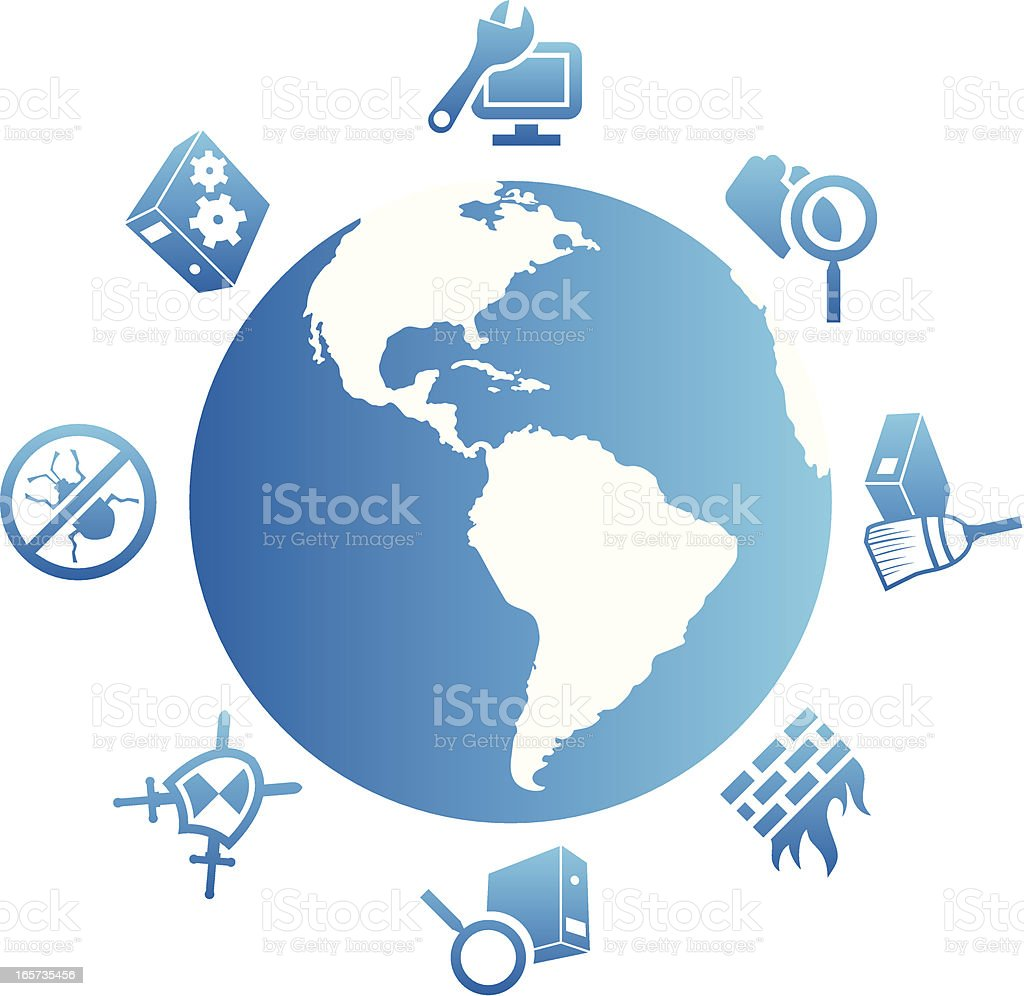 Global Internet Security royalty-free stock vector art