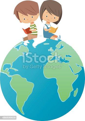 istock Global kids reading 486899658