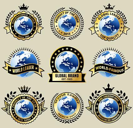 Global Leader Gold badges set
