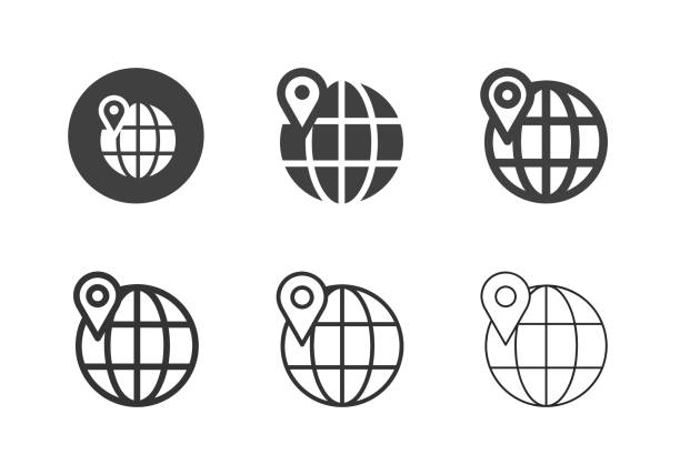Global Location Icons - Multi Series vector art illustration