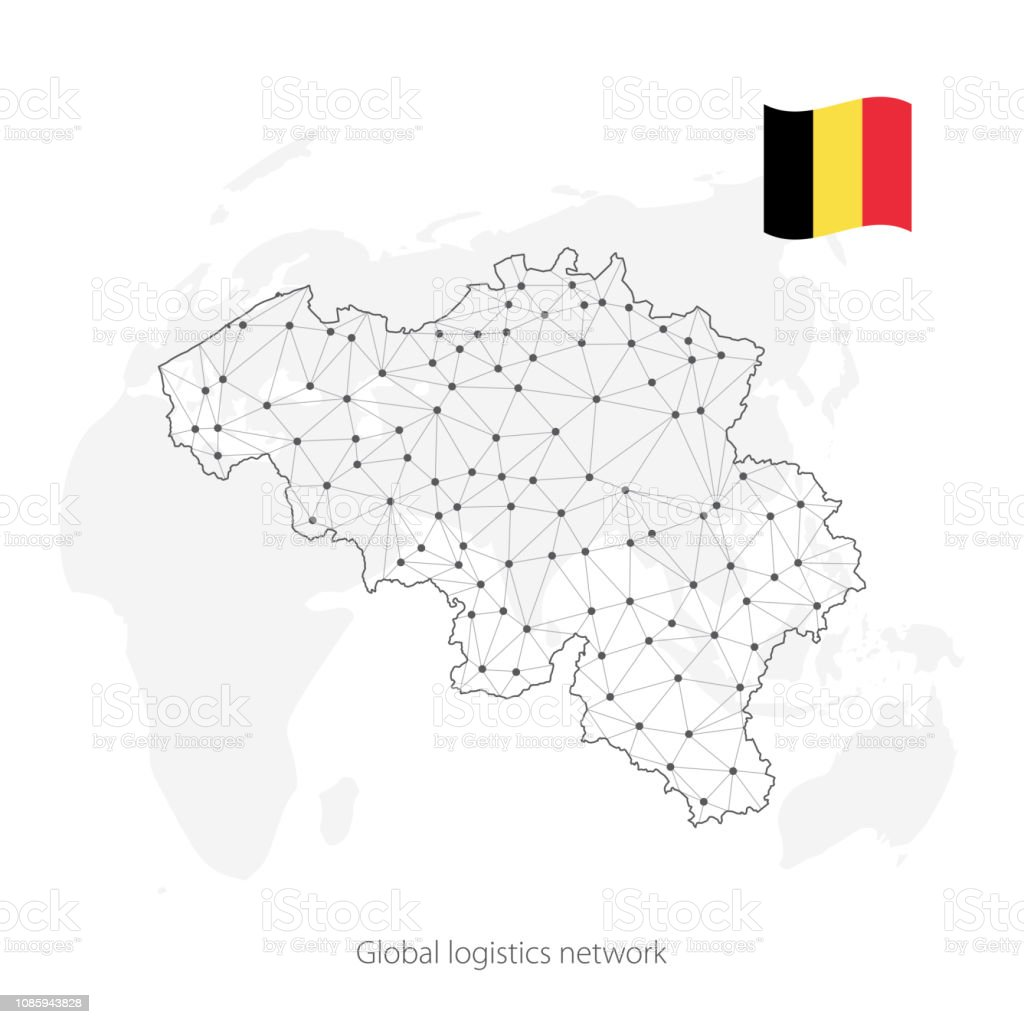 Global Logistics Network Concept Communications Network Map ...