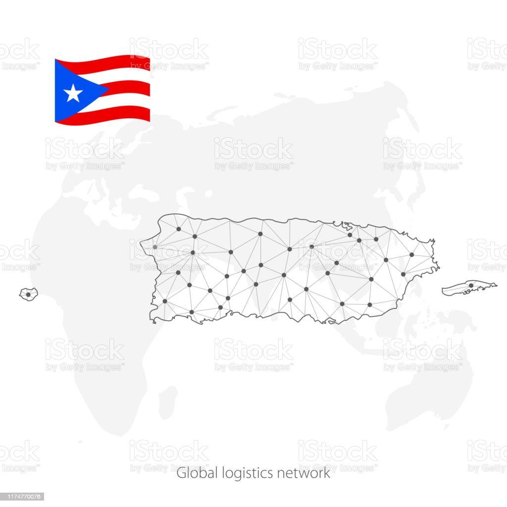 Globales Logistiknetzwerkkonzept Kommunikationsnetzwerk ...