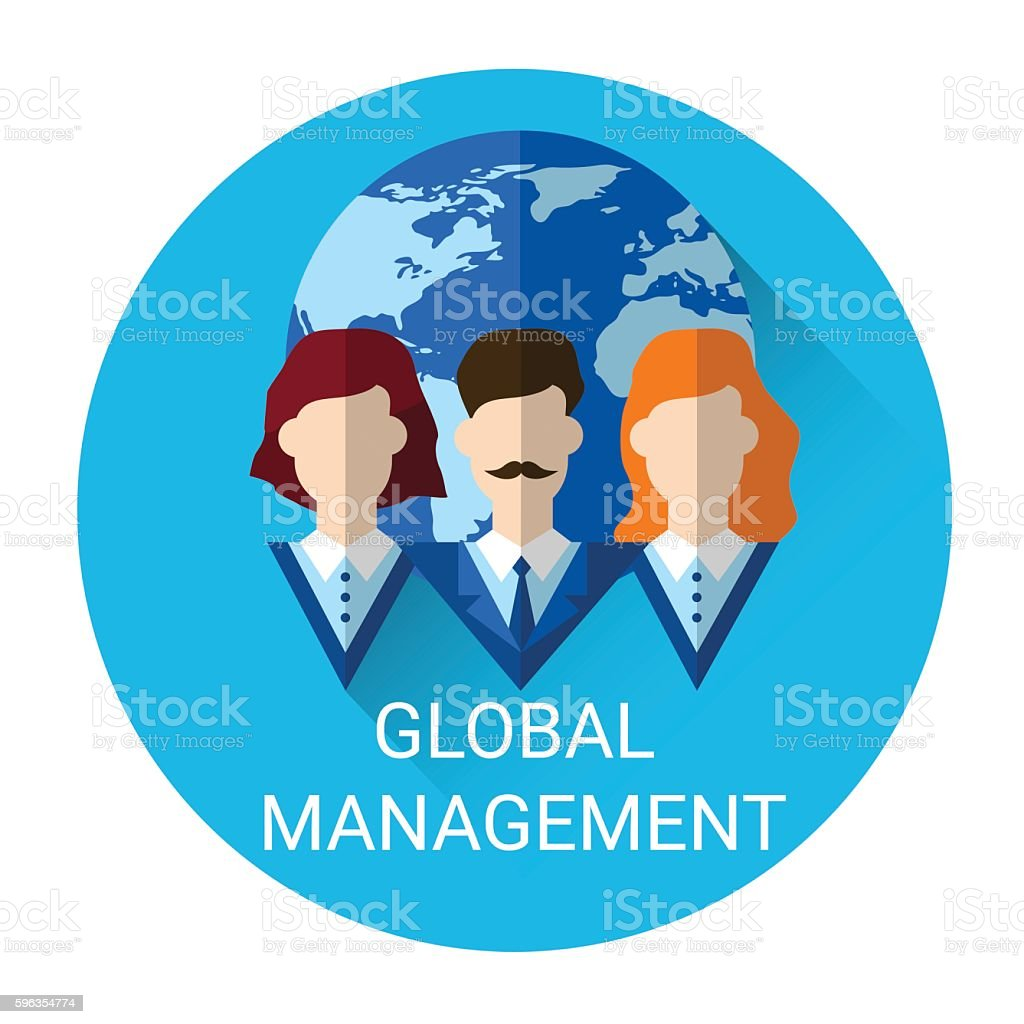 Global Management Business Outsource Employment Icon royalty-free global management business outsource employment icon stock vector art & more images of adult