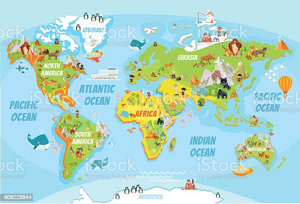 Global map with cartoon animals vector id606229944?b=1&k=6&m=606229944&s=612x612&h=x jkwidl7zbmi7y2uctl2dqyywltupyeuztu lkrpsc=