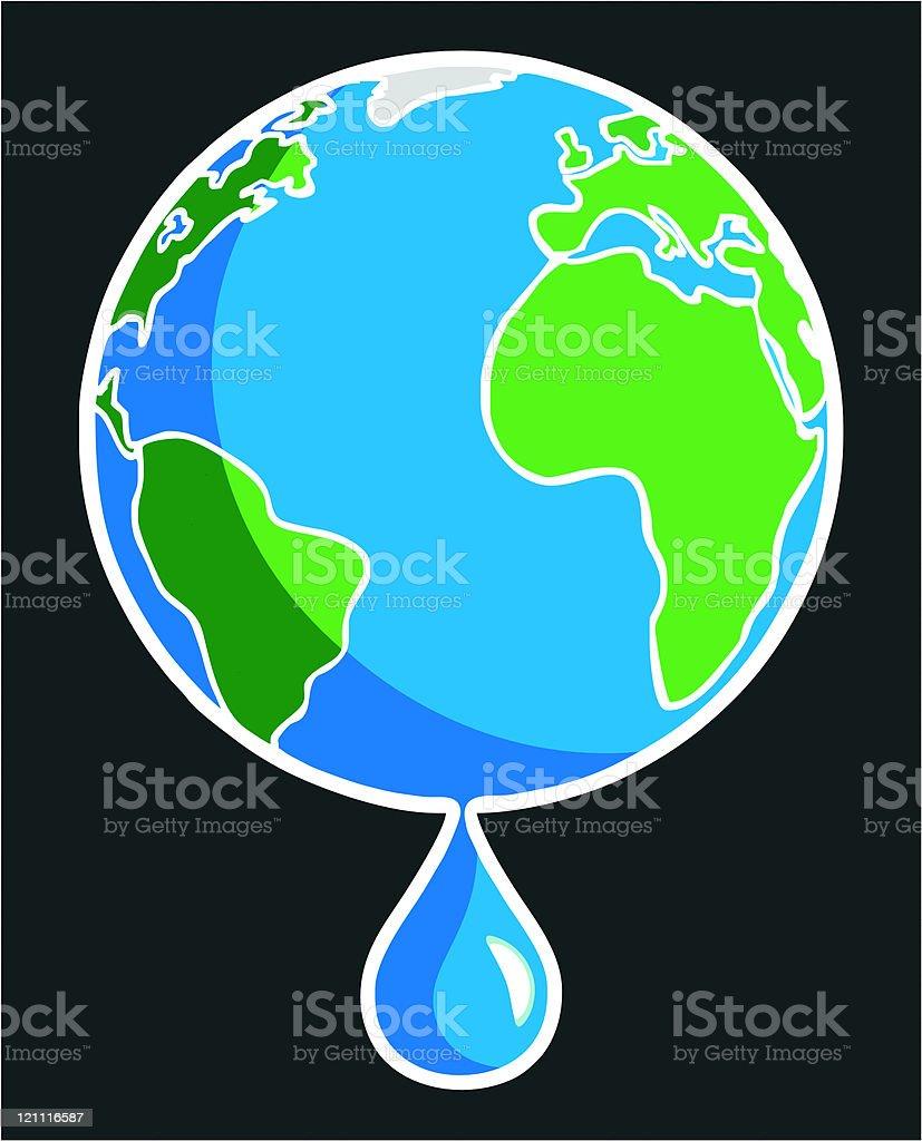 Global Meltdown royalty-free stock vector art