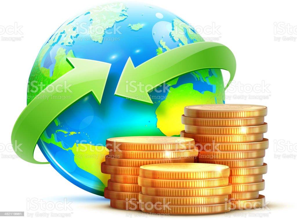 global money transfer concept royalty-free stock vector art
