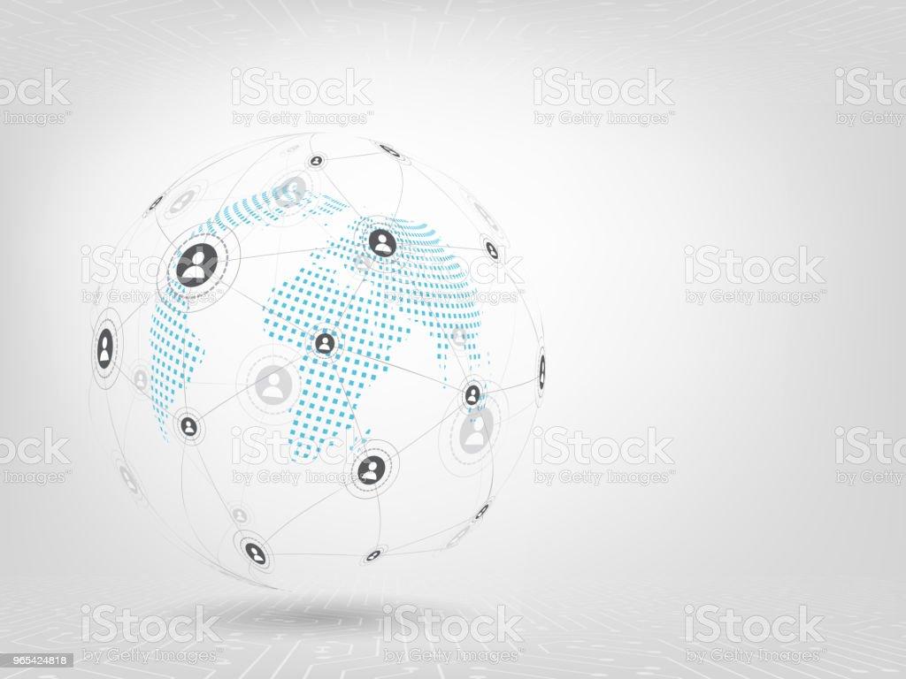 글로벌 네트워크 배경입니다. 소셜 미디어 연결 개념입니다. - 로열티 프리 0명 벡터 아트