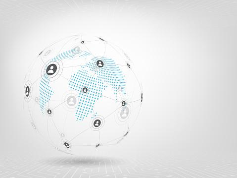 글로벌 네트워크 배경입니다 소셜 미디어 연결 개념입니다 0명에 대한 스톡 벡터 아트 및 기타 이미지