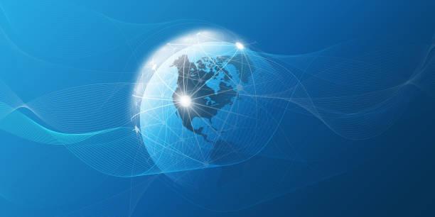 globales netzwerkkommunikationskonzept - mobile kommunikation stock-grafiken, -clipart, -cartoons und -symbole