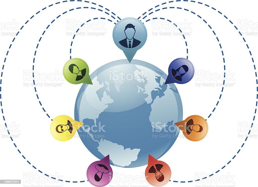 Global Network Communication royalty-free stock vector art