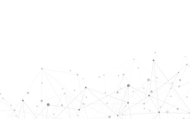 global network connection. abstract geometric background with connecting dots and lines. digital technology and communication concept. - acute angle stock illustrations