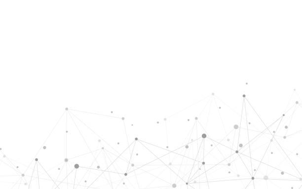 bildbanksillustrationer, clip art samt tecknat material och ikoner med global nätverks anslutning. abstrakt geometrisk bakgrund med kopplings punkter och linjer. digital teknik och kommunikations koncept. - spetsig vinkel