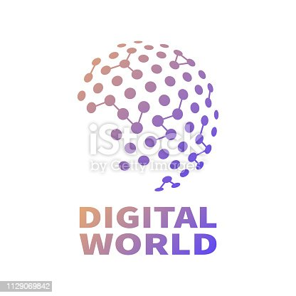 Global network connection, business concept. Vector illustrator. EPS 10