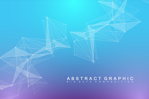 Global network connection. Network and big data visualization background. Futuristic global business. Vector Illustration