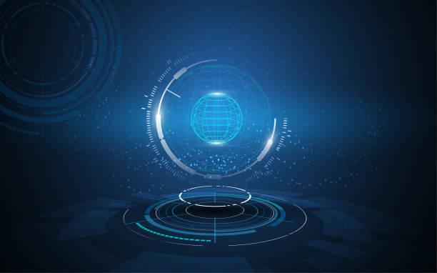 globales Netzwerk Verbindung Tech Innovation Konzept Hintergrund – Vektorgrafik