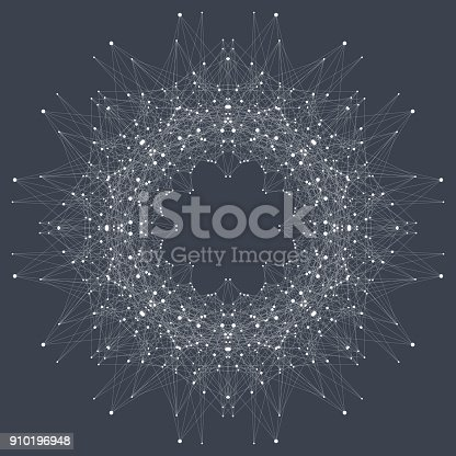 Global network connection. Virtual background communication or particle compounds. Global business. Vector Illustration