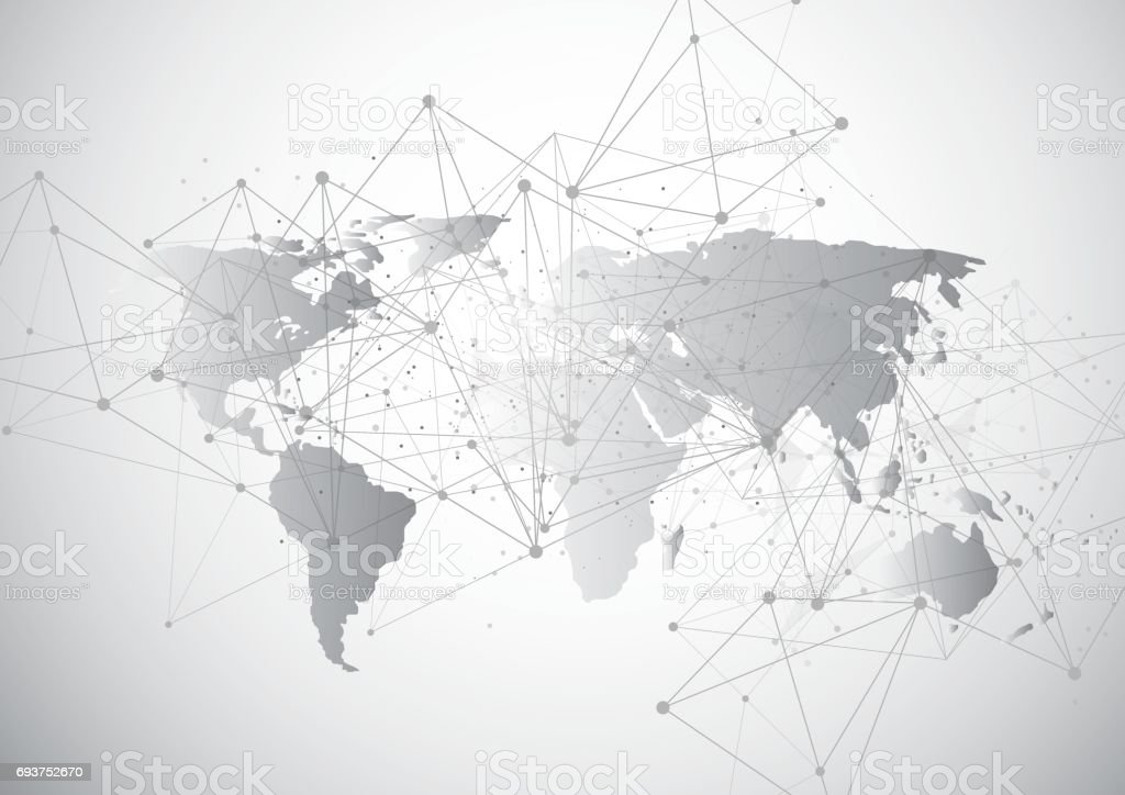Global network connection world map point and line composition global network connection world map point and line composition concept of global business vector gumiabroncs Gallery