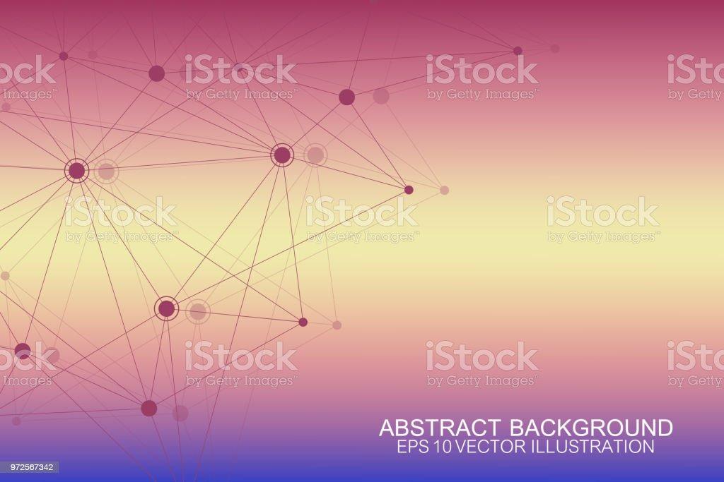 Ilustración De Conexiones De Red Global Con Puntos Y Líneas
