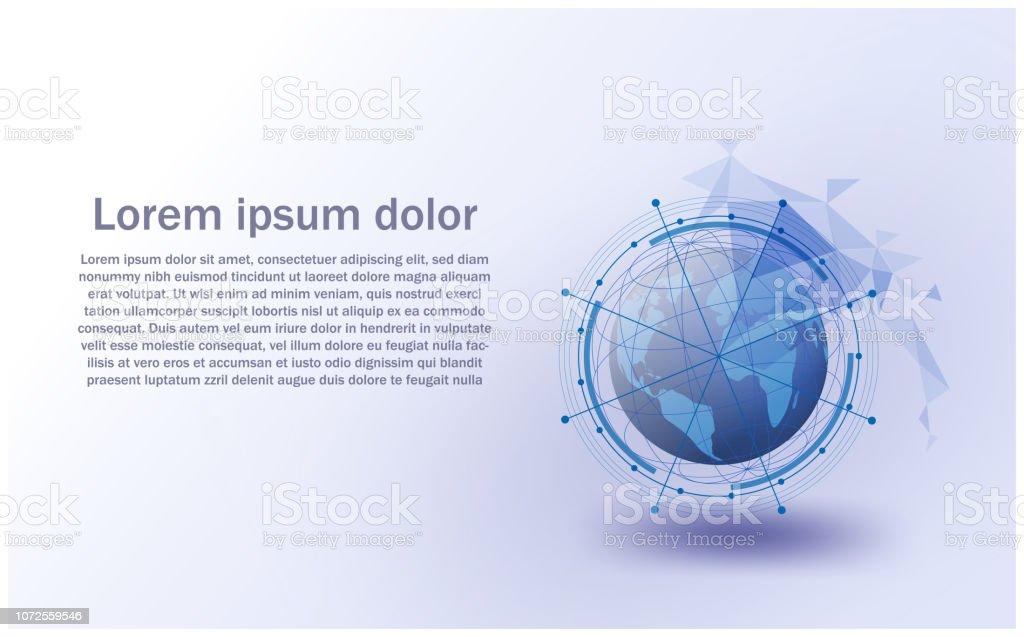 Globales Netzwerk Vektorsystem Futuristisch Internet Of