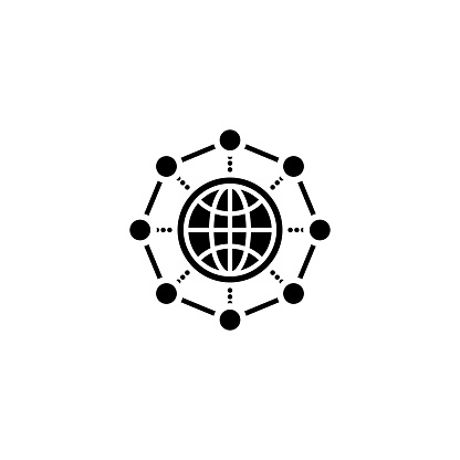 Global Network icon in vector. Logotype