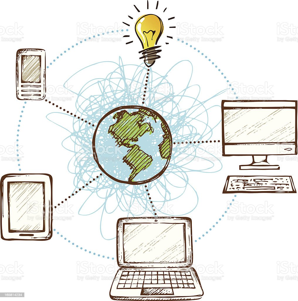 Global Network royalty-free global network stock vector art & more images of cloud computing