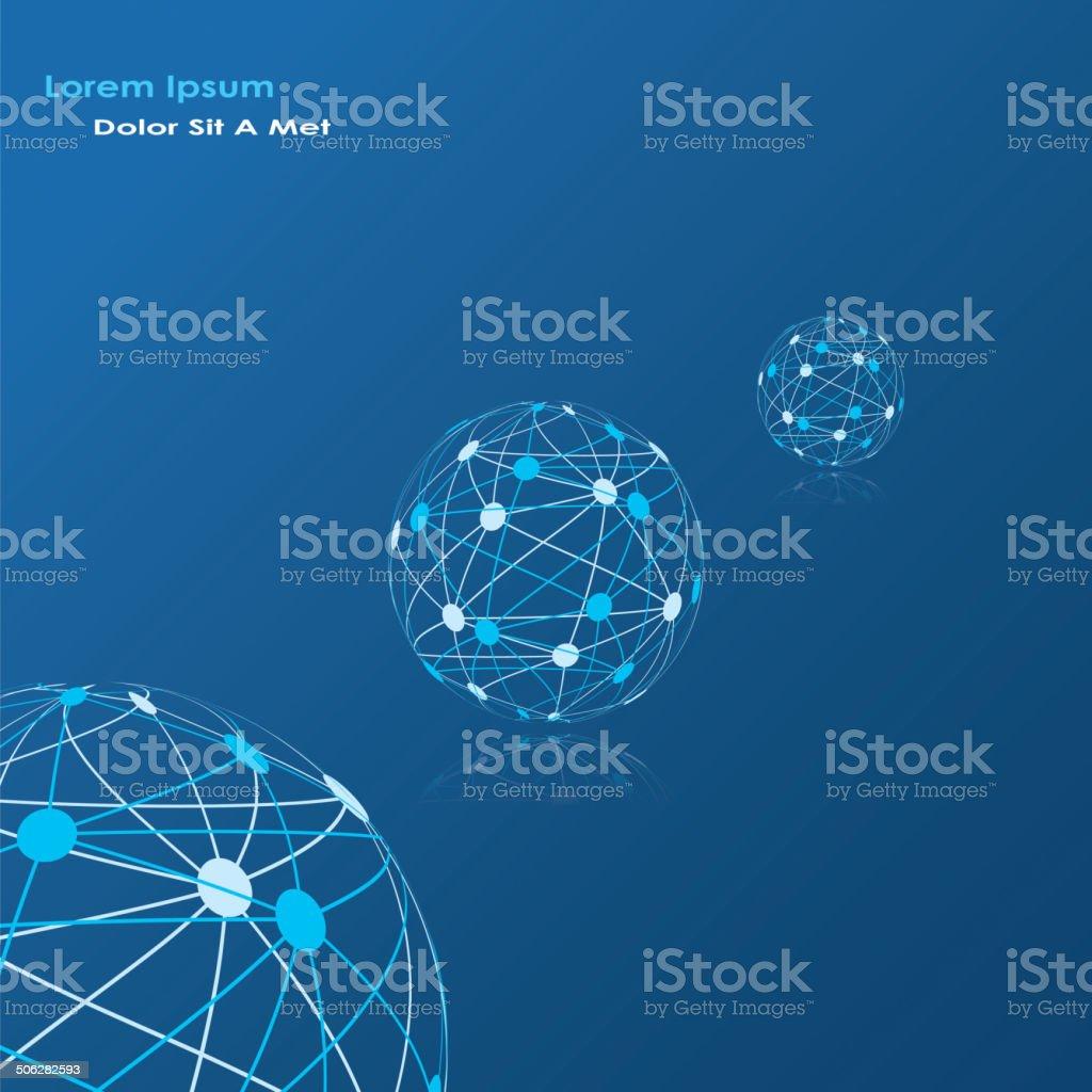 global network vector art illustration