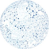 Vector illustration of a global network.