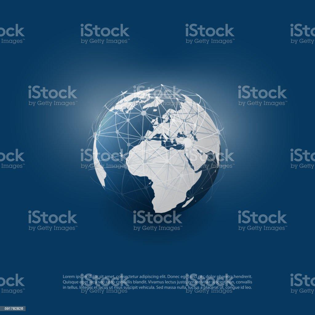 Global Networks, Earth Globe – Vektorgrafik