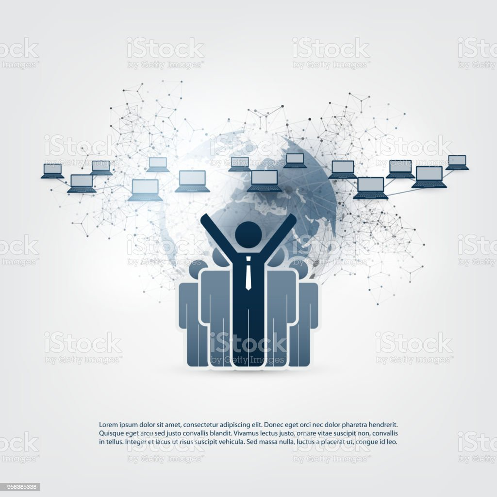 Global Online Business, Network Connections Concept royalty-free global  online business network connections concept
