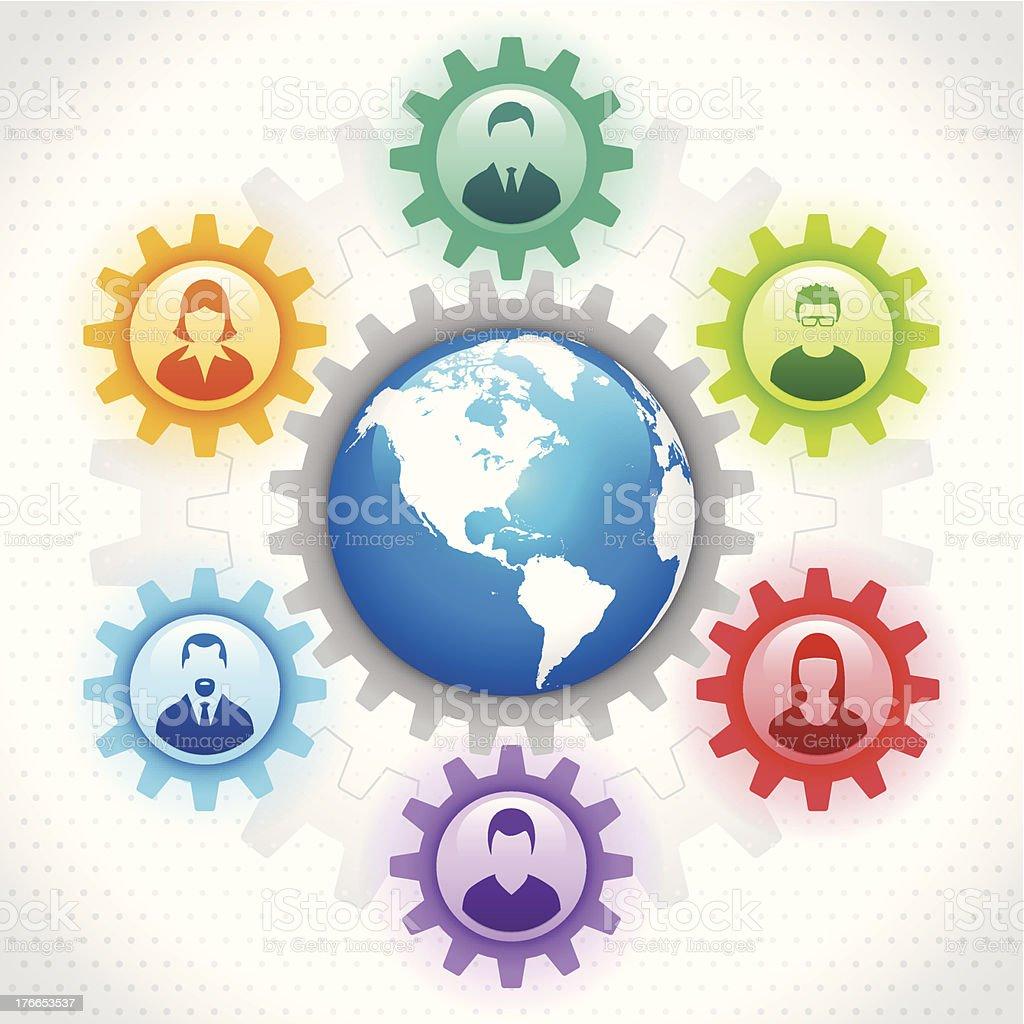 Concepto Global players ilustración de concepto global players y más banco de imágenes de amistad libre de derechos