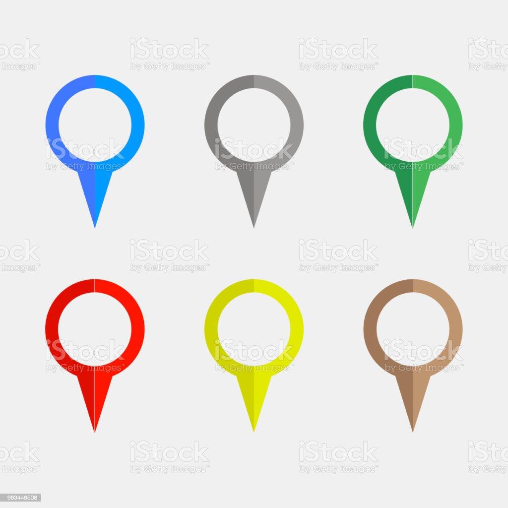 Gps. Globalnego Systemu Pozycjonowania. Ikony wskaźników. Ilustracja wektorowa - Grafika wektorowa royalty-free (Biznes)
