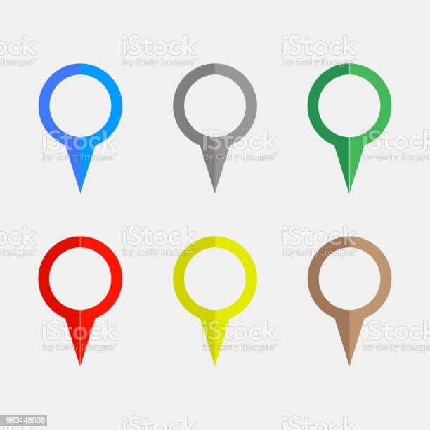 Gps Globalnego Systemu Pozycjonowania Ikony Wskaźników Ilustracja Wektorowa - Stockowe grafiki wektorowe i więcej obrazów Biznes