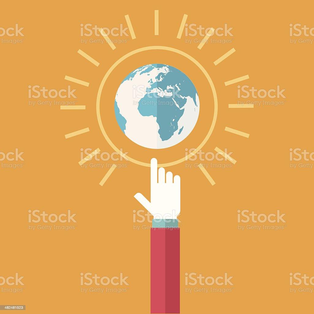 Global reach vector art illustration