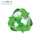 Global Recycle, Arrow around the globe.vector