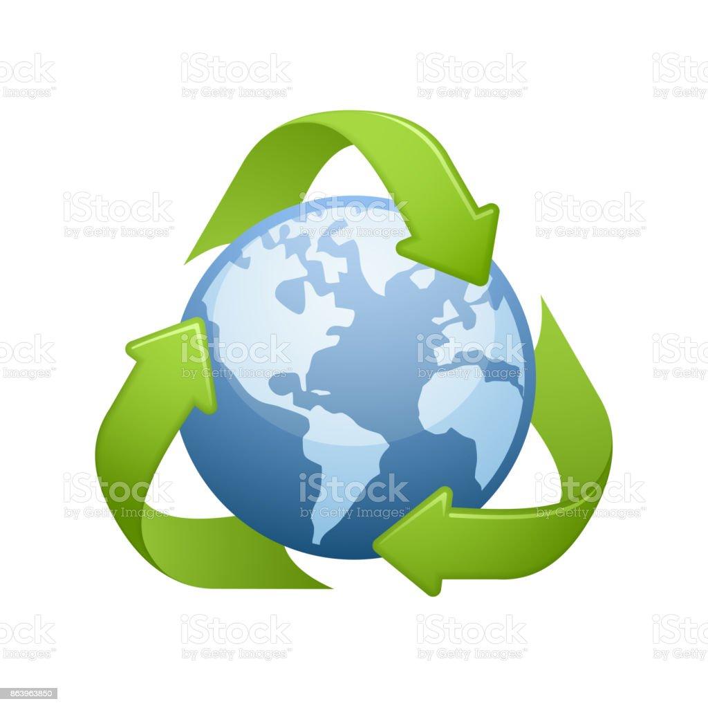 Global Recycling - Novo Icons vector art illustration