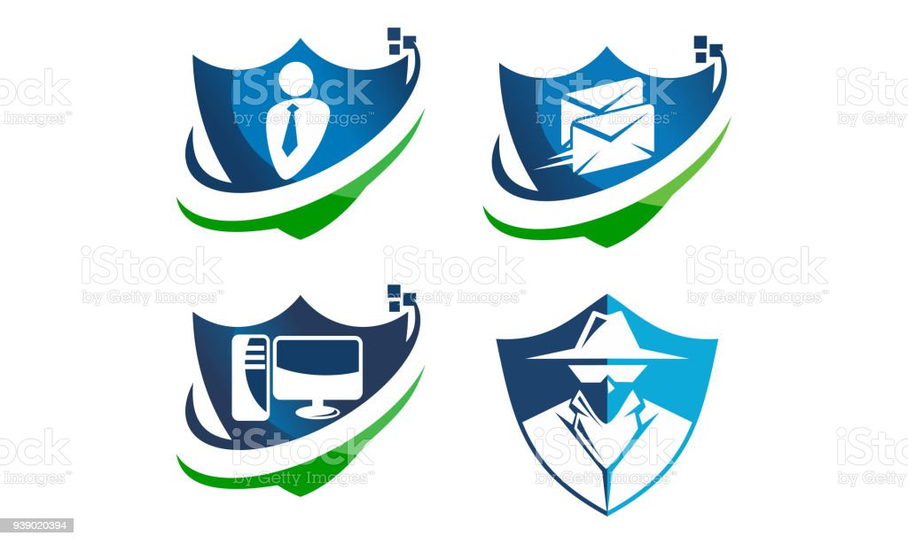 Global Security Shield Template Set Stock Vector Art & More Images ...