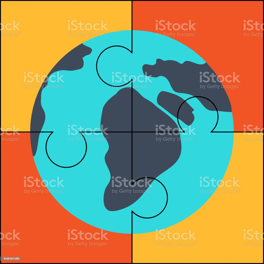 Global solution icon earth puzzle vector stock vector art more global solution icon earth puzzle vector royalty free global solution icon earth puzzle gumiabroncs Images