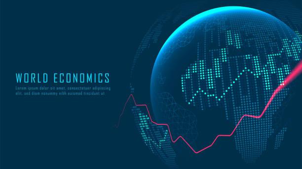 Globaler Aktienmarkt oder Devisenhandel – Vektorgrafik