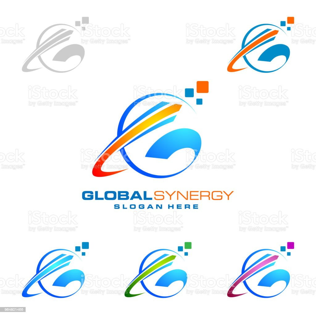 Global Symbol with ring sphere and digital world motion vector design royalty-free global symbol with ring sphere and digital world motion vector design stock vector art & more images of abstract