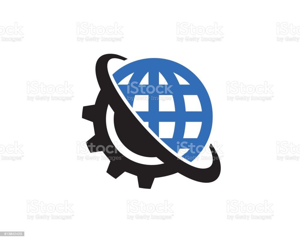 Global Technology symbole Template Design vecteur, emblème, Design Concept, création de symbole, icône - Illustration vectorielle