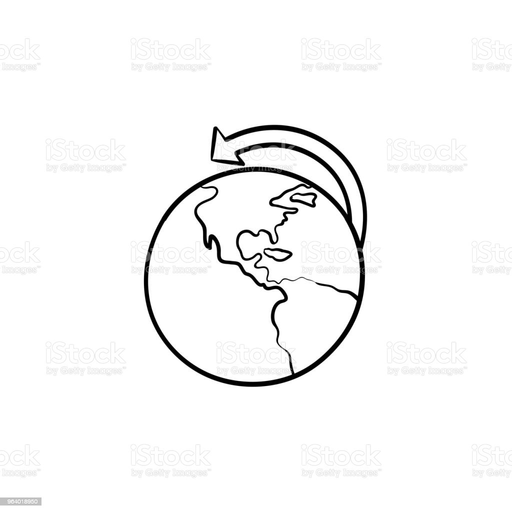 Global transportation and delivery concept hand drawn outline do - Royalty-free Abstract stock vector