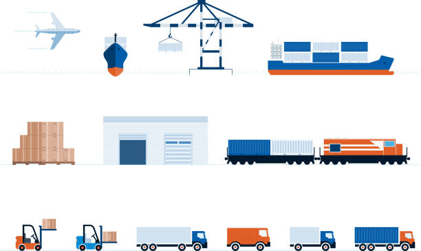 Global Transportation And Delivery vector art illustration