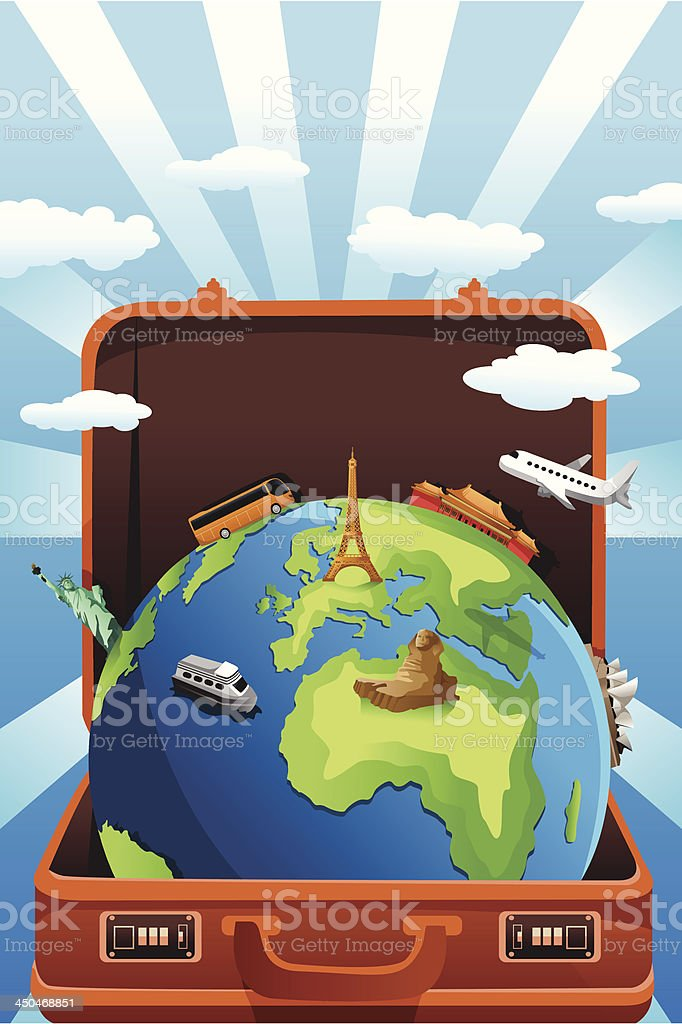 Global travel concept royalty-free stock vector art