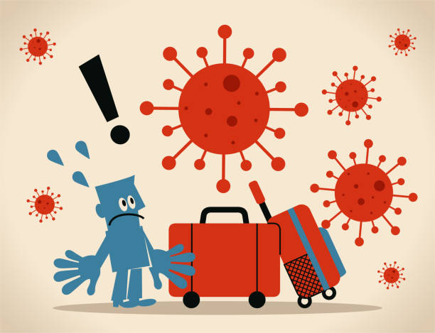 Global travel opens new roads for outbreaks, spread of coronavirus and the flu, people who are not showing symptoms can still be carrying the virus vector art illustration
